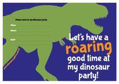恐竜の誕生パーティーの招待状