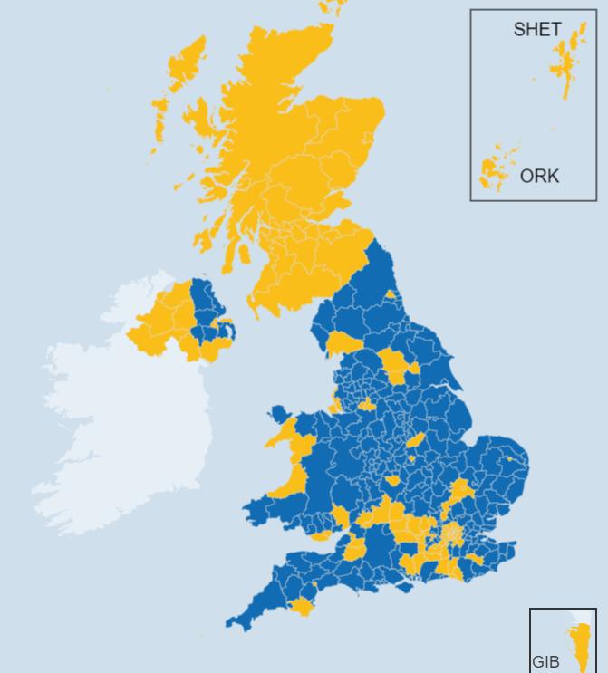 Brexit 国民投票の結果