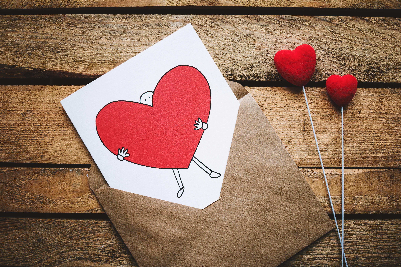 バレンタインのカード