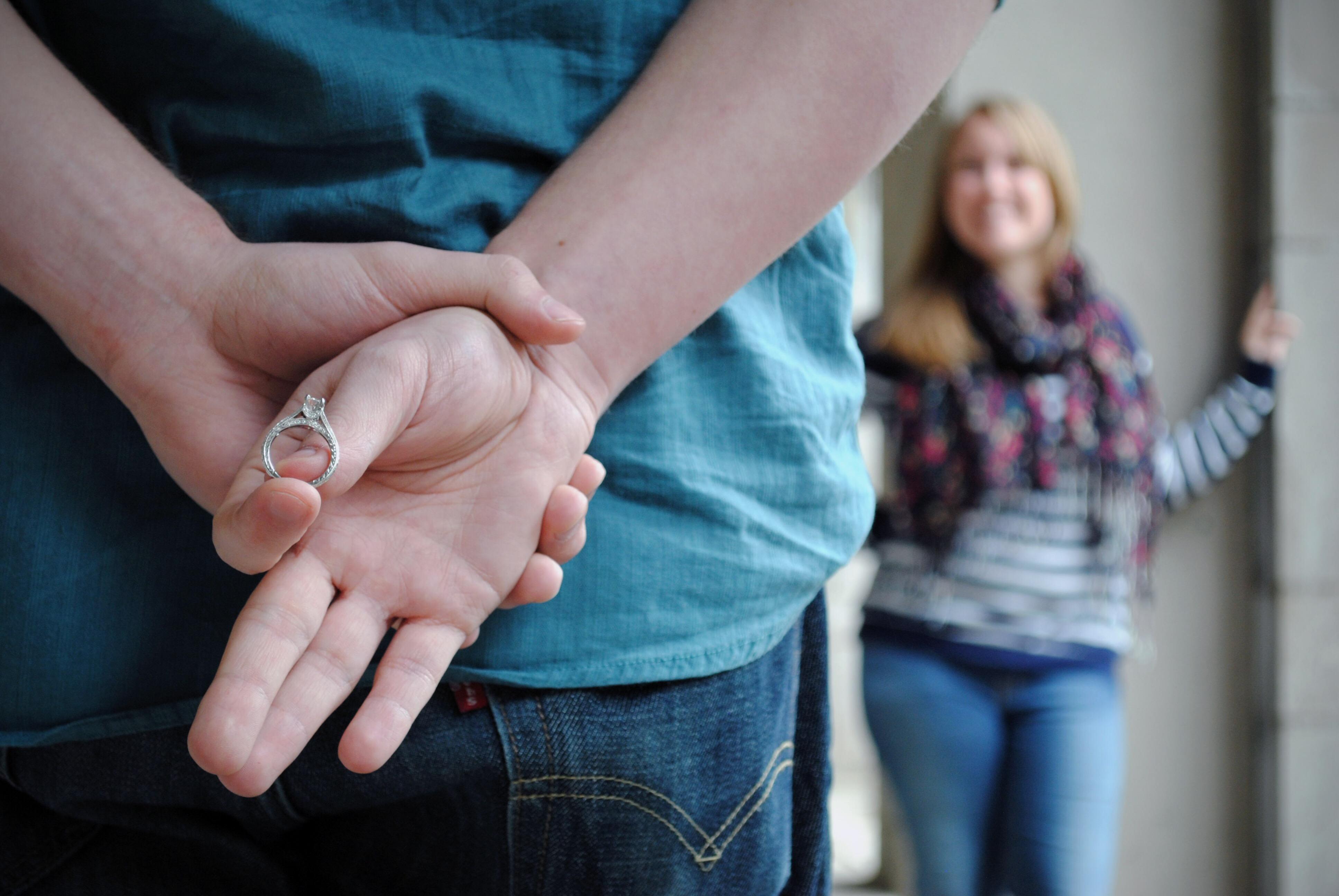 夫 指輪 右手 に を する