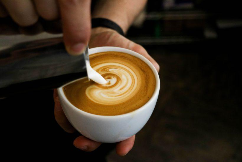牛乳不使用のカフェラテ