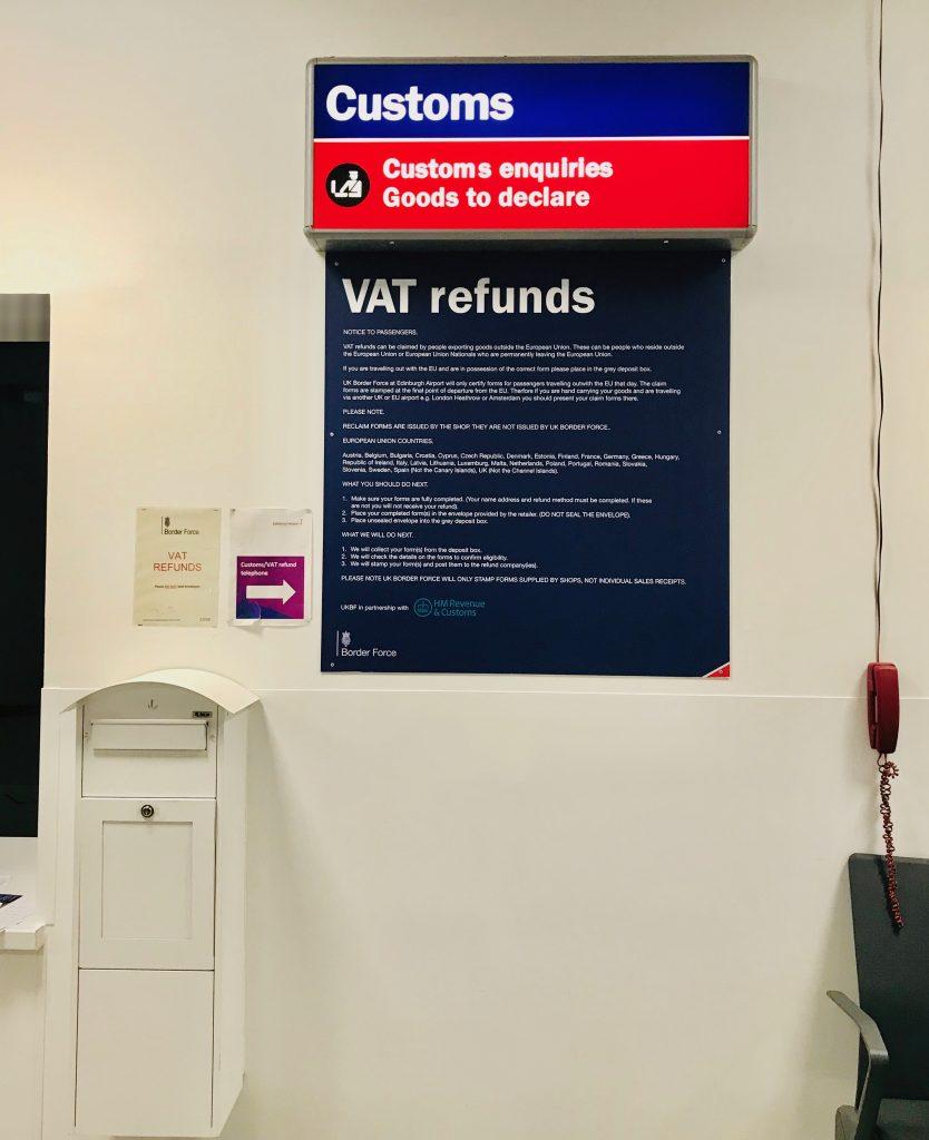 空港にある免税ポスト