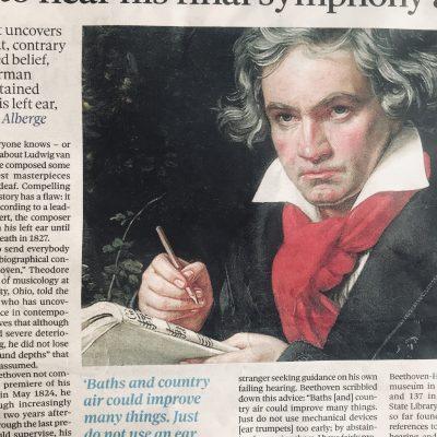 新事実。ベートーヴェンは第九の初演をその耳で聞いていた。