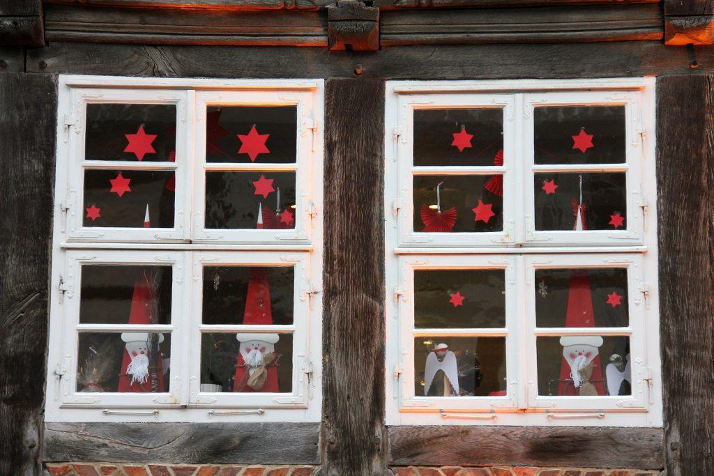出窓の飾り