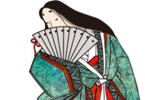 口元を隠す平安時代の貴族の女性